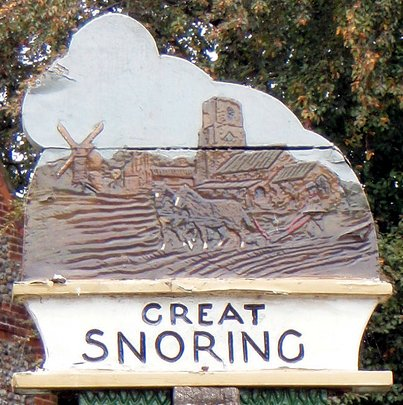 Gt Snoring Old Sign